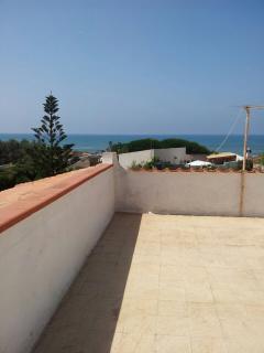 terrazzo con vista mare