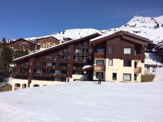 Ski in ski out 1 bedroom apartment in Belle Plagne - Wifi included