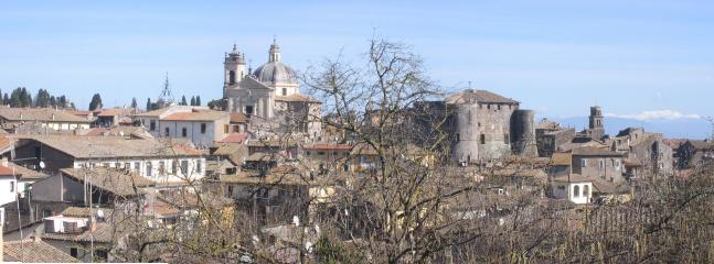Panorama of Ronciglione with the ancient castle and medieval village