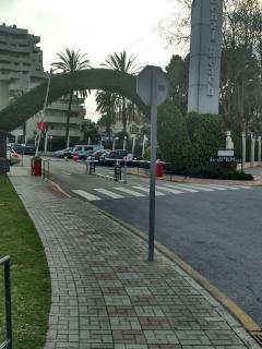 entrada a la urbanizacion