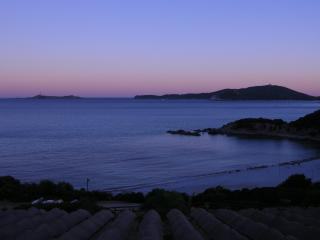 Villasimius in Front of the Blue Sea