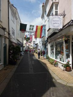 Delightful Dartmouth - lots of independent shops and cafés.