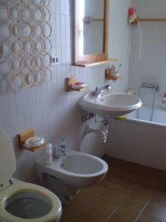 bagno (+ antibagno con 2° lavandino e specchio)