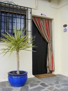 Entrance to our casita, Casa Rosa.