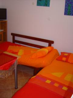 Bed for one or two people in the living part of the kitchen A2