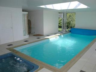 Private, heated indoor pool and hot tub.