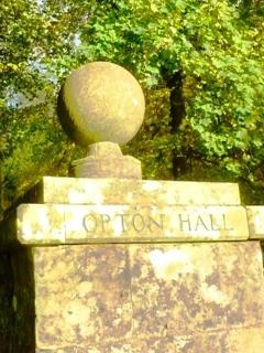 The entrance to Orton Hall