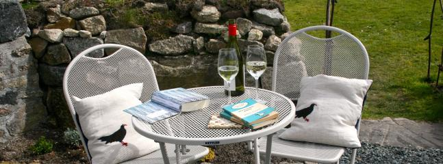 Enjoy a cool glass of wine and read a book.