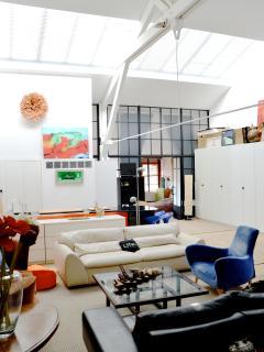 Living room with sky light