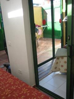 Schiebetüre zwischen den 2 Schlafzimmer von der andern Seite