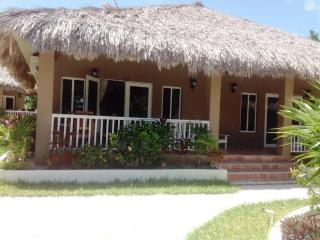 Our beautiful thatched roof 722 sq ft. cabana 13A