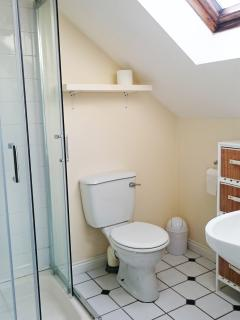On-suite shower room and toilet to the master bedroom