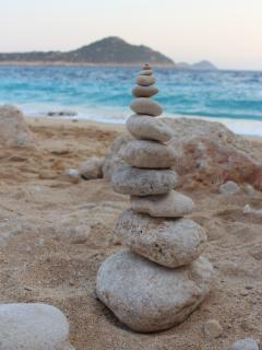 Sand castles or rock castles - take your pick at the Kaputsh  silver sandy beach!