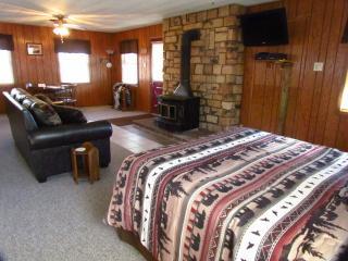 Bridge cabin has 1 queen sized bed & 1 queen sized sofa sleeper