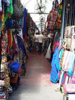 The trendy Flea Market area