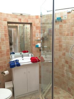 Crystal shower in the main bathroom