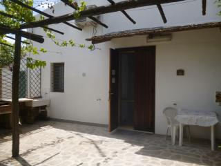 entrance of the apartment and private outside space