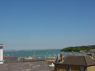View of solent from roof terrace