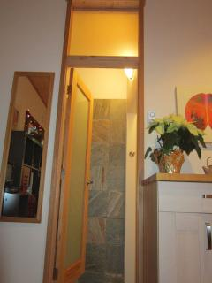 New door to shower!