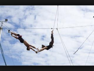 Trapeze , one of the many activities available onsite