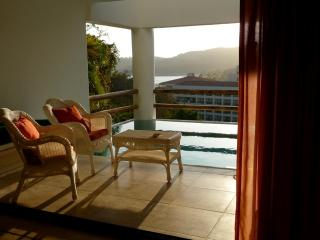 View overlooking Tangolunda Bay from pool patio