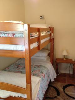 Bedroom Two - bunkbeds with snuggly eiderdowns and electric blankets.