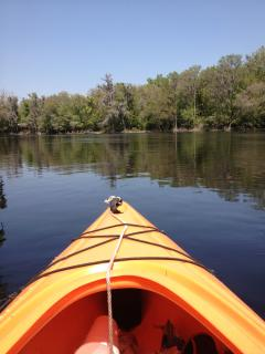 A glorious day kayaking on the Santa Fe