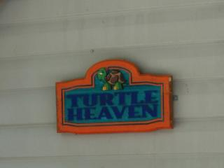 Entrance sign to Turtle Heaven trailer