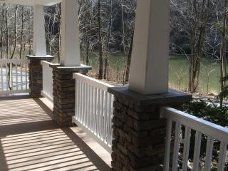 Front porch overlooks creek