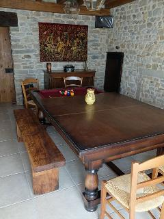 table à manger transformable en billard