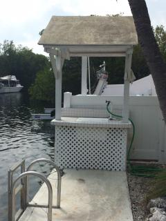 Fish Cleaning Table and Ladder to the Water