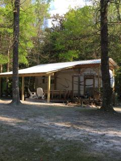 Turtle Palace - 28' Cardinal RV Camper and deck area