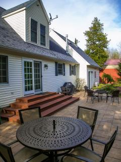 Back of Home with Patio Area, BBQ Grille, Firepit (View 1)
