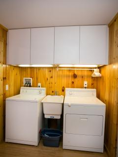 1st Floor Laundry Room with Full Size Washer and Dryer