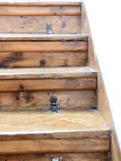 Original Natural Victorian wood stairs