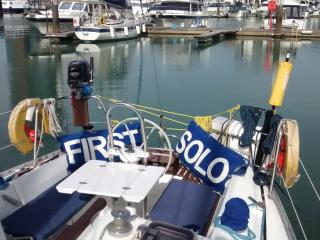 Sailing Yacht in Ocean Village Marina, Southampton
