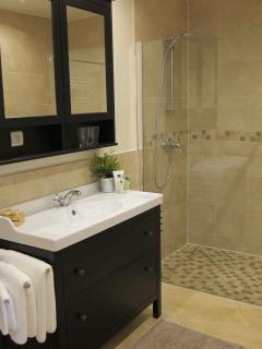 2nd spacious bathroom with walk in shower