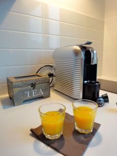 Kaffeemaschine inklusive