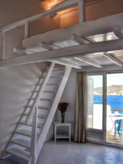 Loft bedroom with sea view