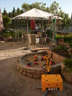 Large sand pit for the children