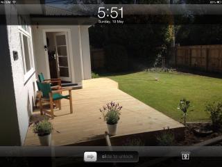 Front deck/lawn
