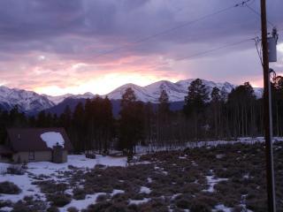 Winter sunset off the deck