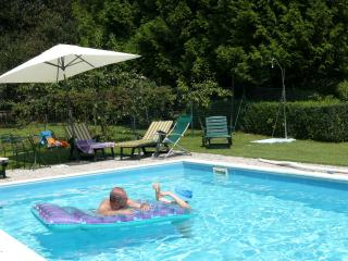 villa with pool and private park in Lakes area, Venegono Superiore