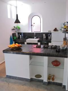 Our Morocan style kitchen has all modern amenities.