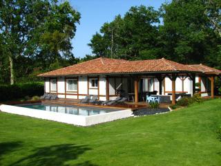 Villa landaise 10 pers., piscine chauffée, jacuzzi, Moliets et Maa