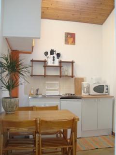 cuisine meublée chambre familiale PATCHOULI-kitchinette-frigo-micro-onde-cafetière-grille-pain-wifi
