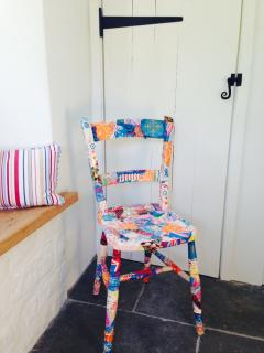 Quirky chair - handmade by my daughter