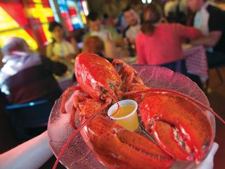 Treat yourself to fresh-caught lobster and other local fare!