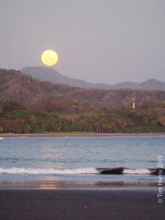 Full moon on the beach