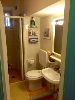 bathroom near the entrance